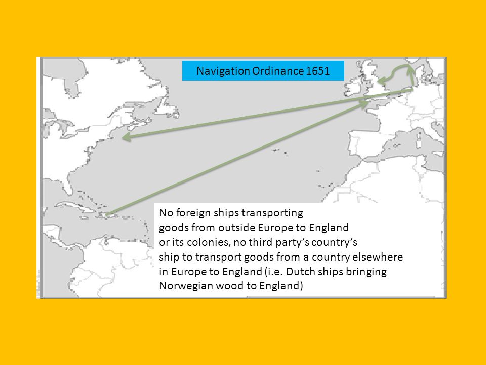 No foreign ships transporting goods from outside Europe to England