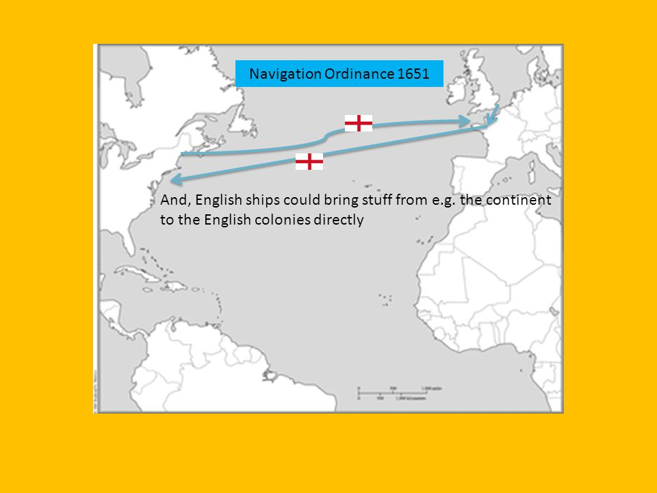 And, English ships could bring stuff from e.g. the continent