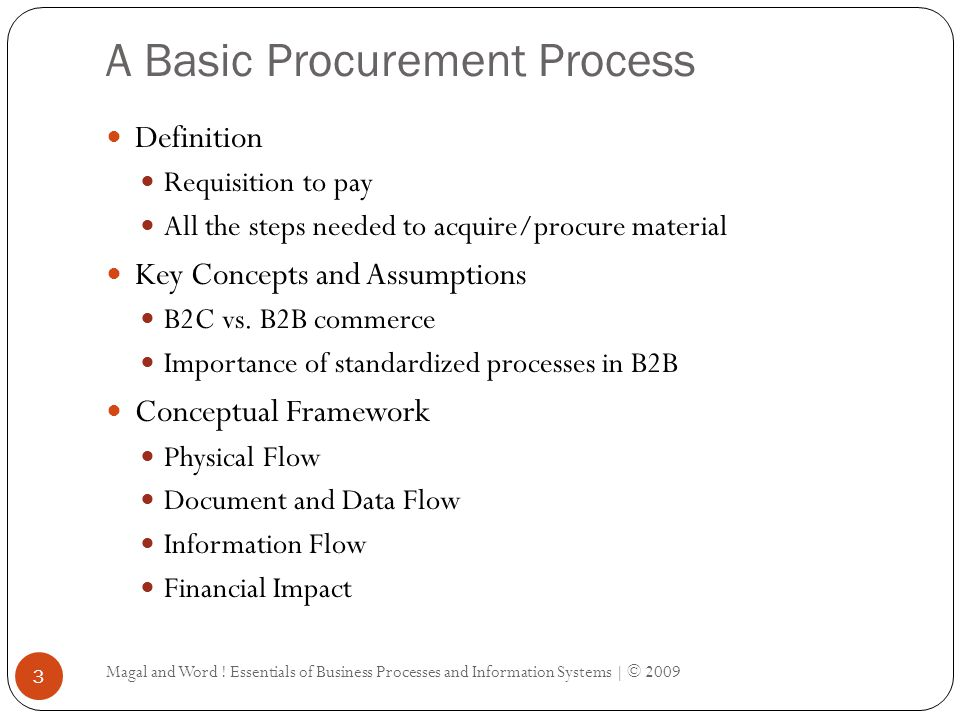 A Basic Procurement Process