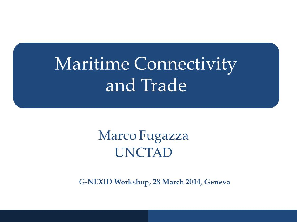 Maritime Connectivity and Trade