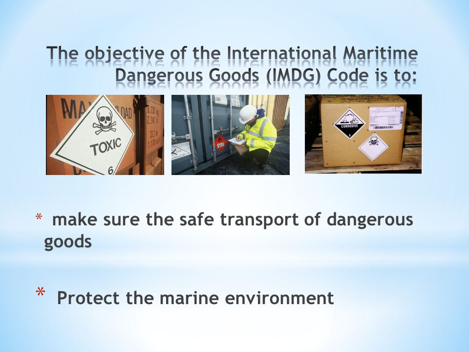 Protect the marine environment
