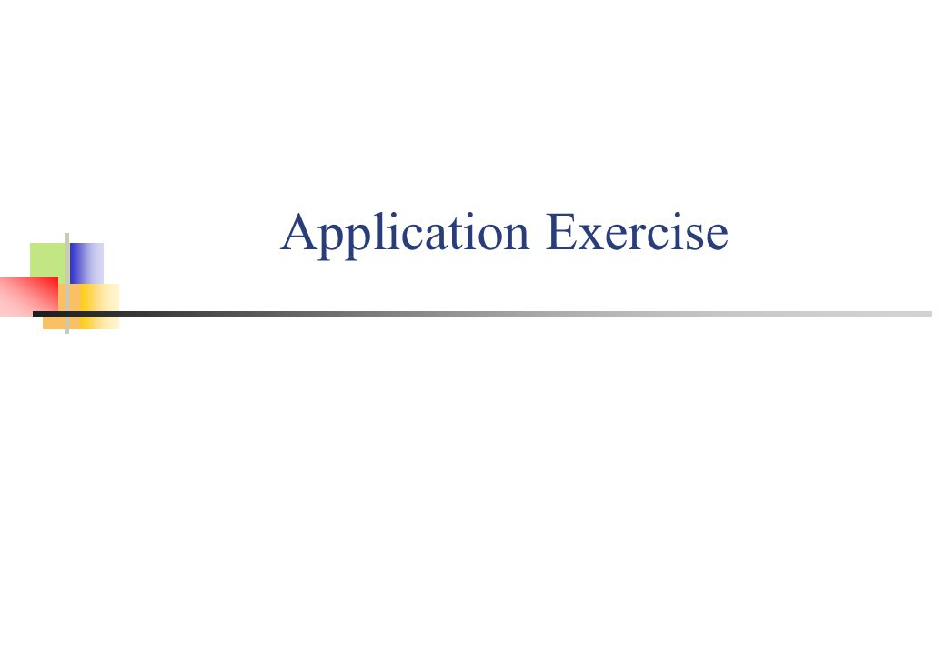 Application Exercise