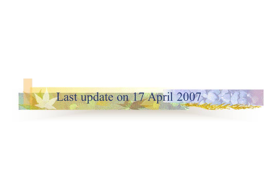 Last update on 17 April 2007