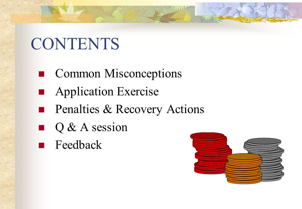 CONTENTS Common Misconceptions Application Exercise
