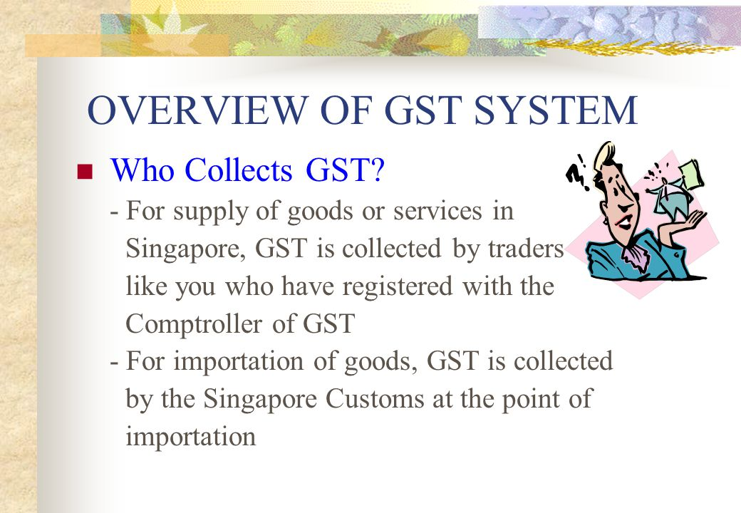 OVERVIEW OF GST SYSTEM Who Collects GST