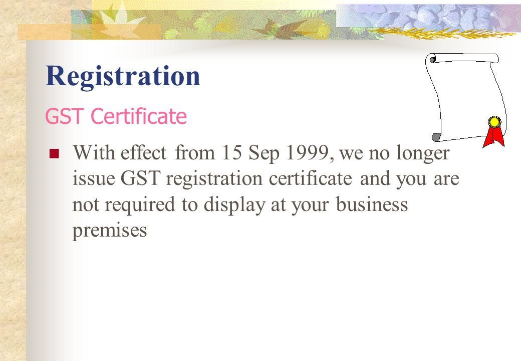 Registration GST Certificate