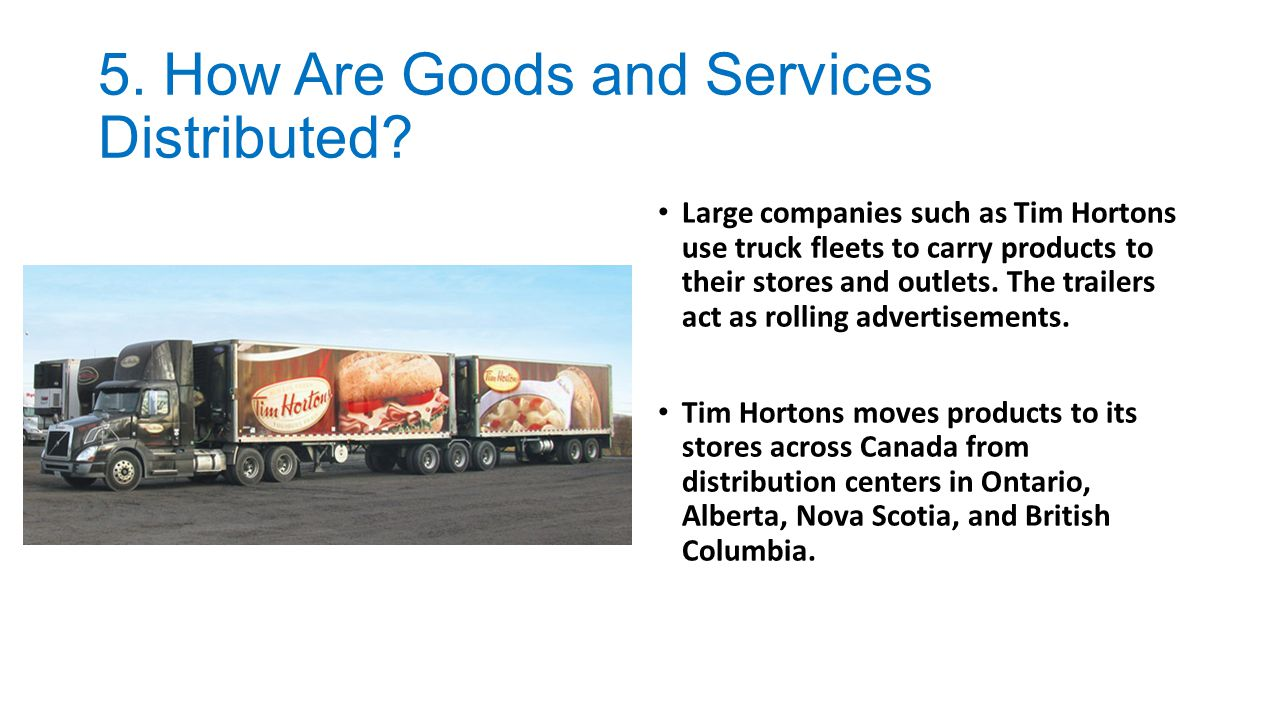 5. How Are Goods and Services Distributed