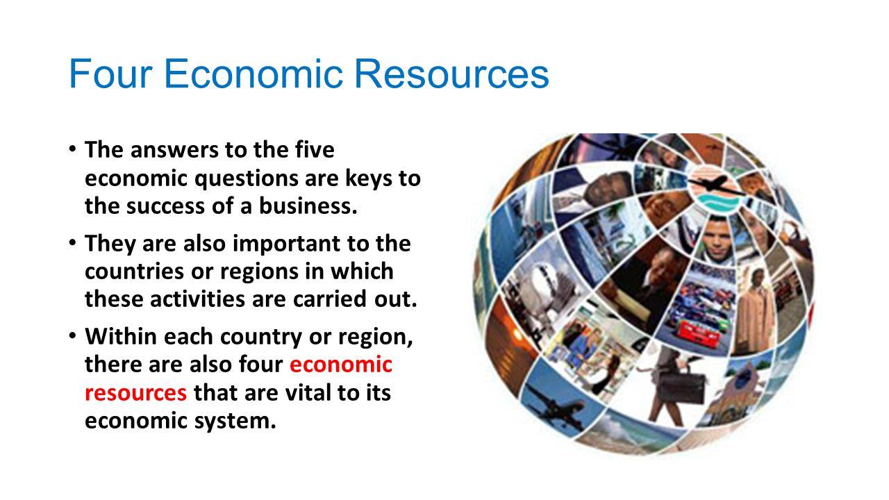 Four Economic Resources