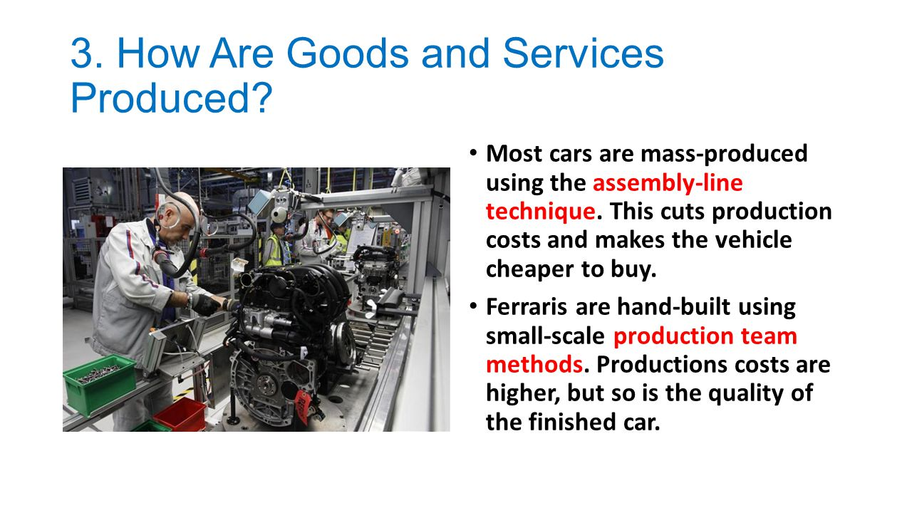 3. How Are Goods and Services Produced
