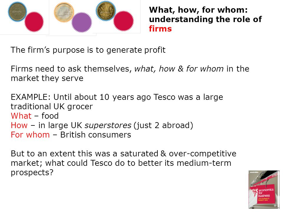 What, how, for whom: understanding the role of firms