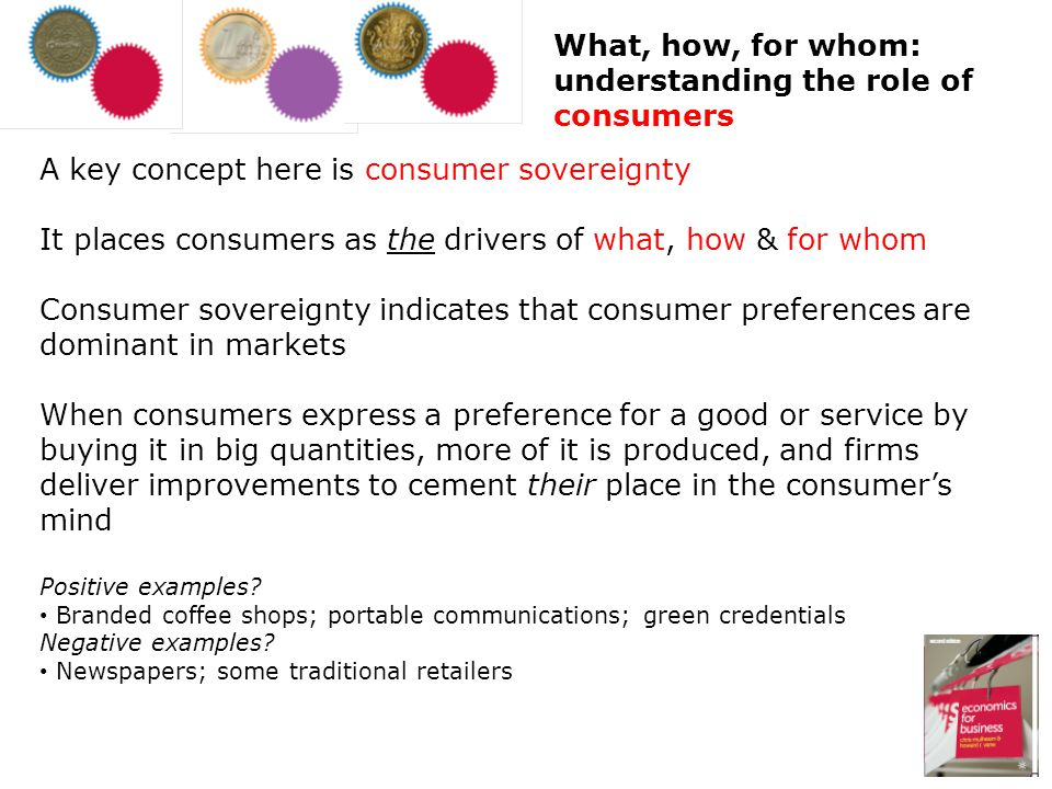 What, how, for whom: understanding the role of consumers