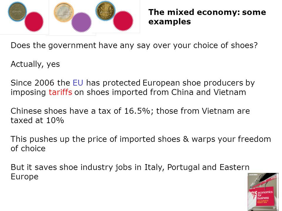 The mixed economy: some examples