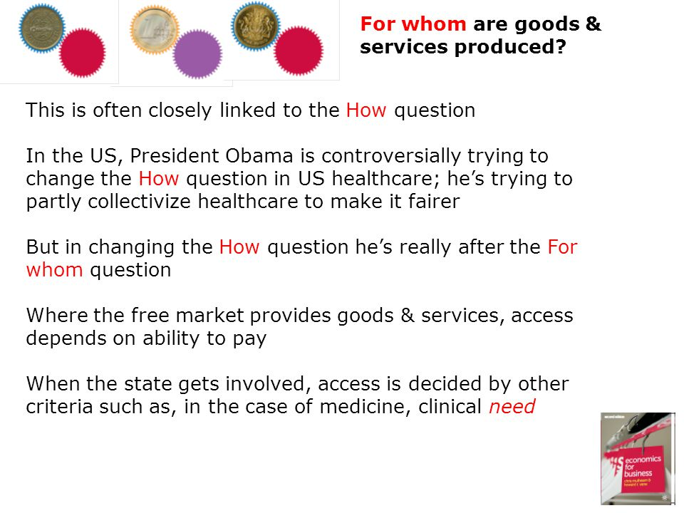 For whom are goods & services produced