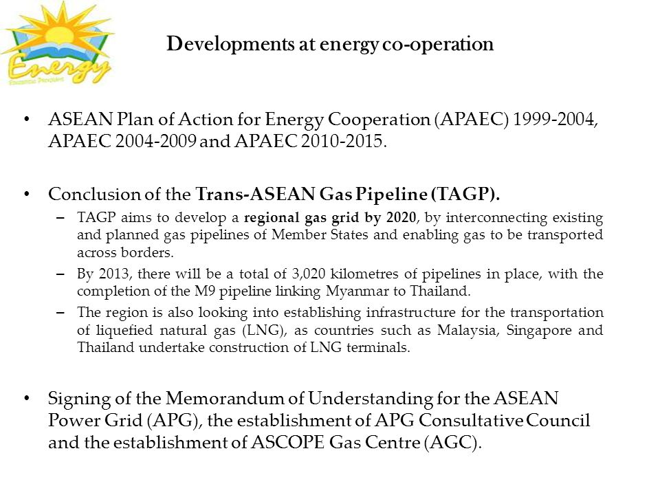 Developments at energy co-operation