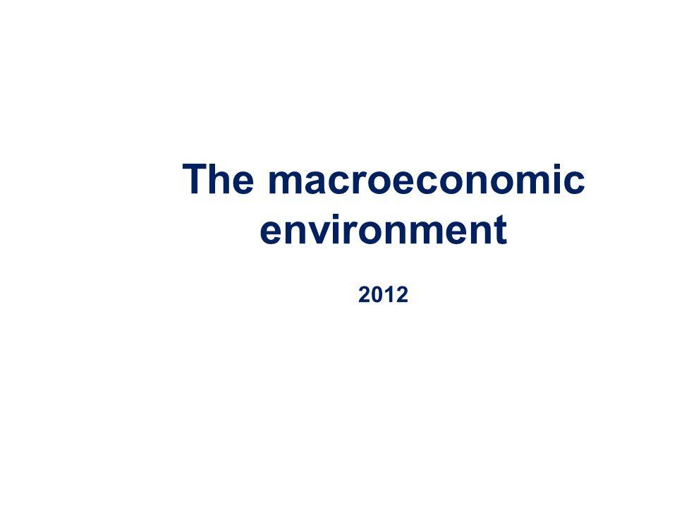 The macroeconomic environment 2012
