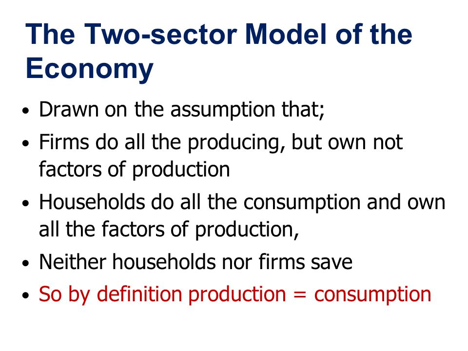 The Two-sector Model of the Economy