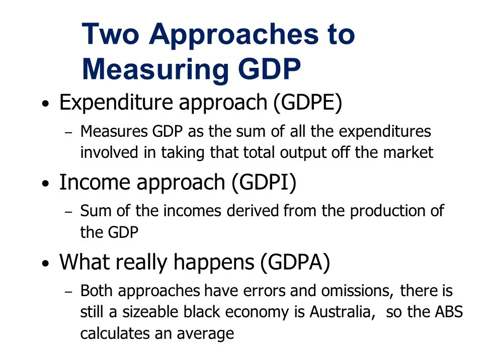Two Approaches to Measuring GDP