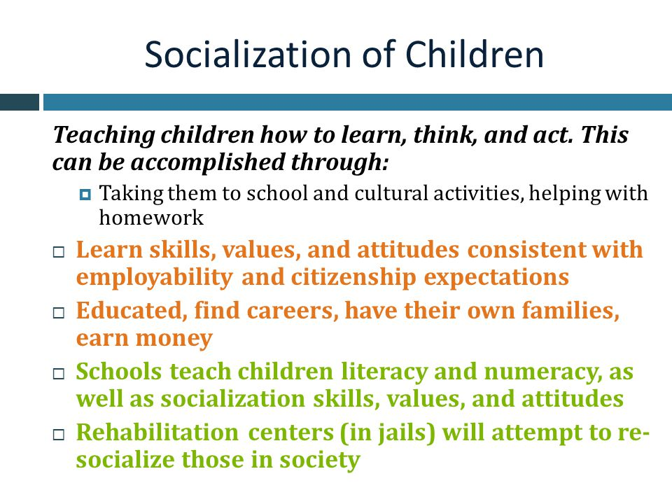 Socialization of Children