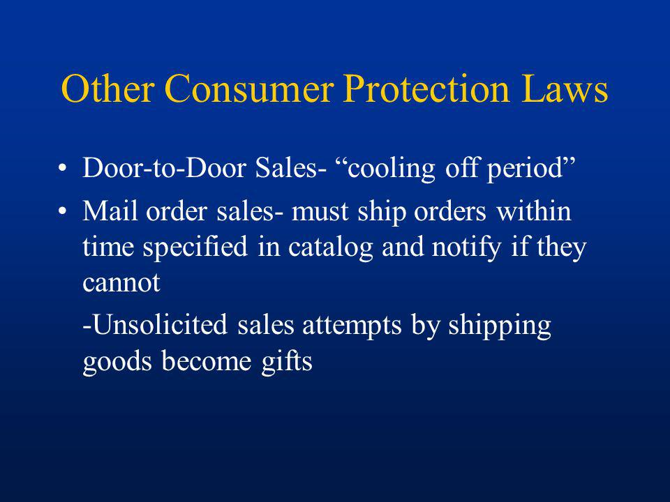 Other Consumer Protection Laws