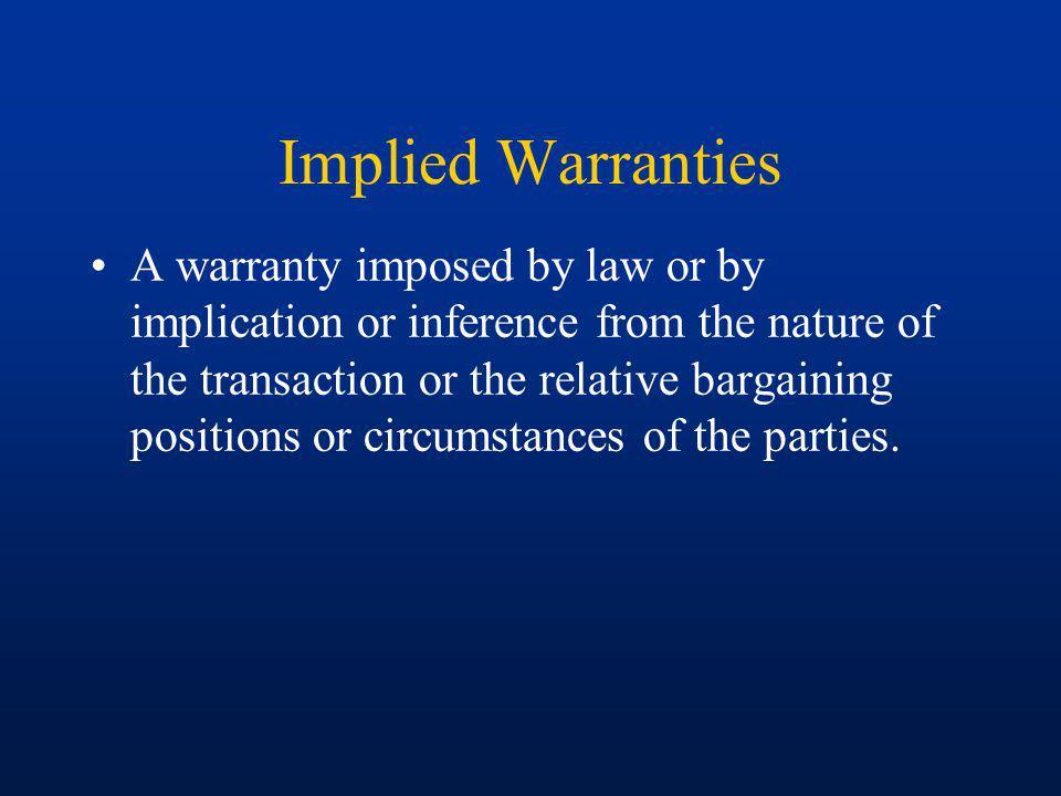 Implied Warranties
