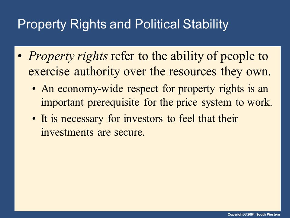 Property Rights and Political Stability