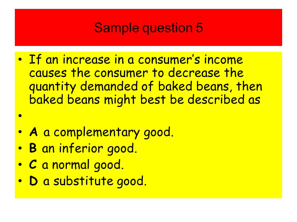 Sample question 5
