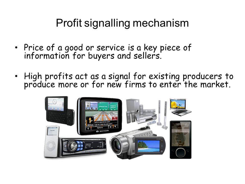 Profit signalling mechanism