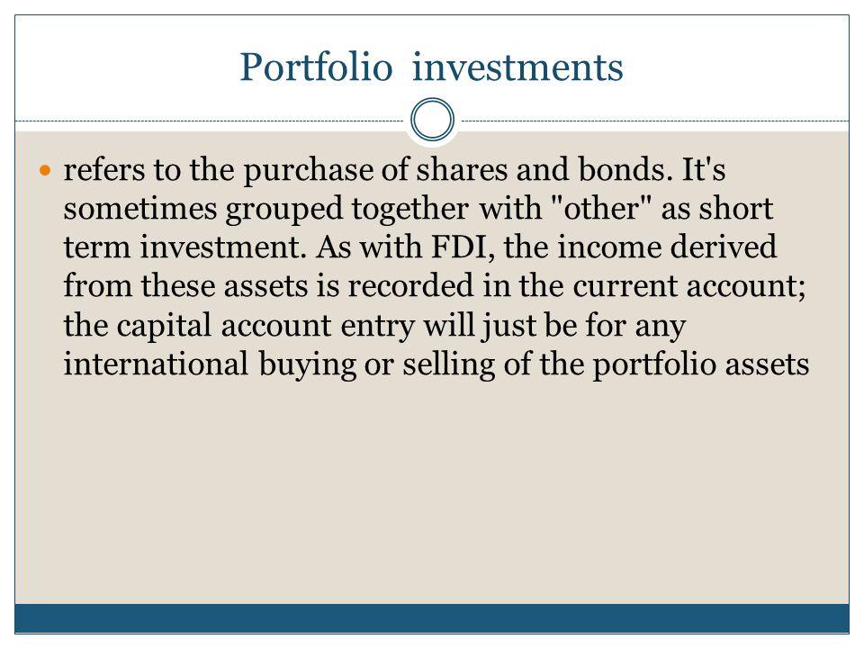 Portfolio investments