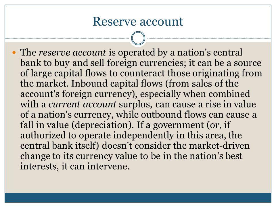 Reserve account