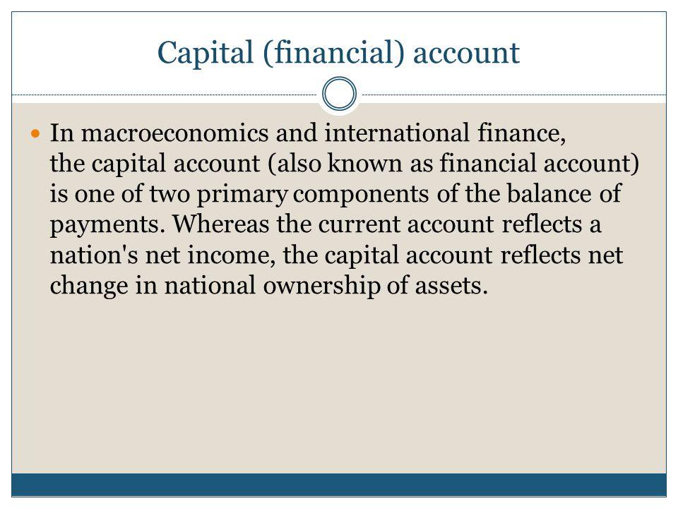 Capital (financial) account