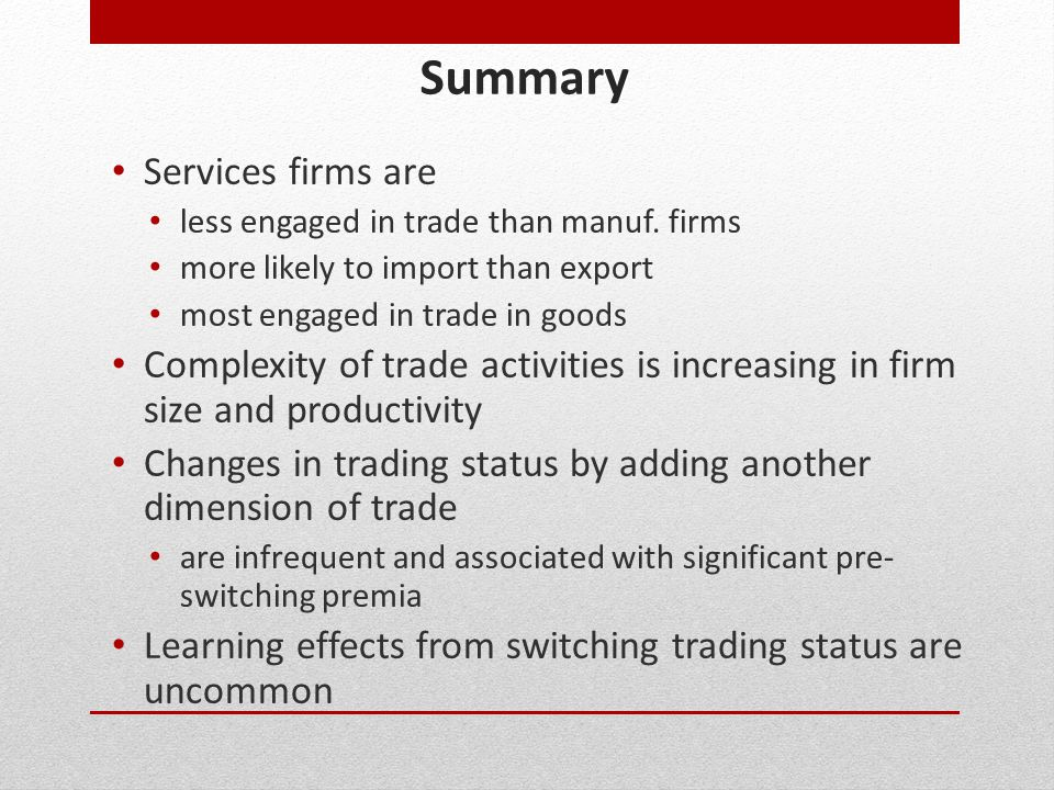 Summary Services firms are
