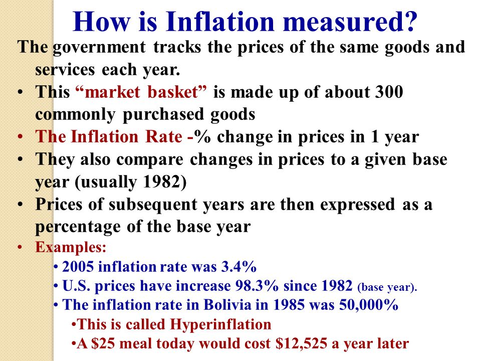 How is Inflation measured