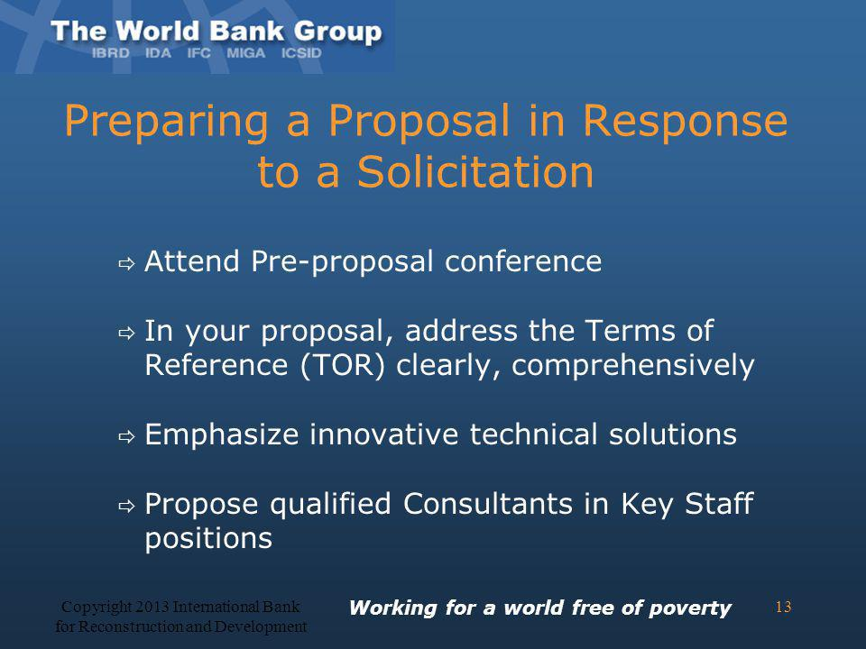 Preparing a Proposal in Response to a Solicitation