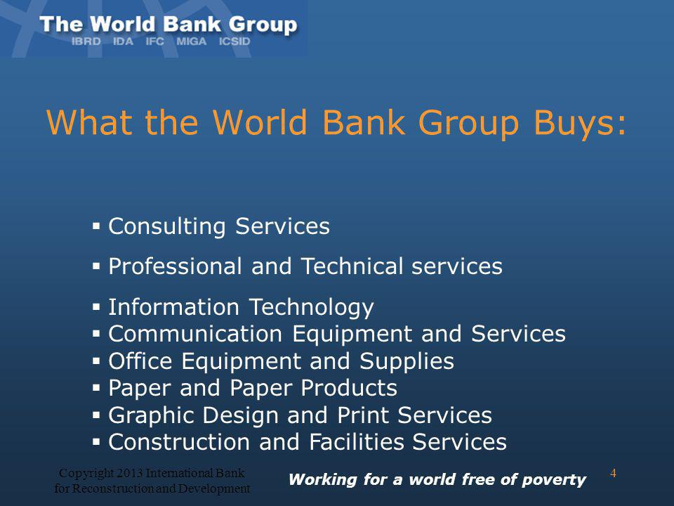 What the World Bank Group Buys:
