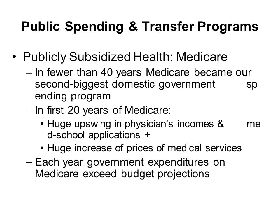 Public Spending & Transfer Programs