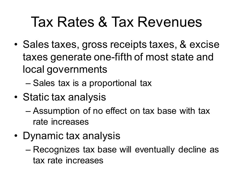 Tax Rates & Tax Revenues