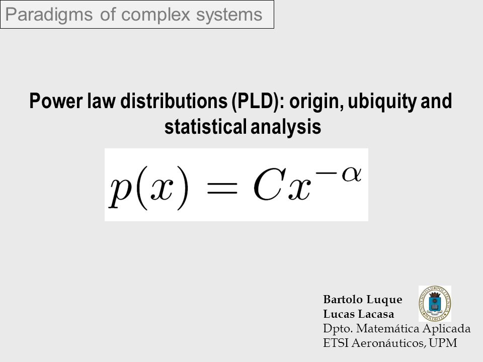 Paradigms of complex systems