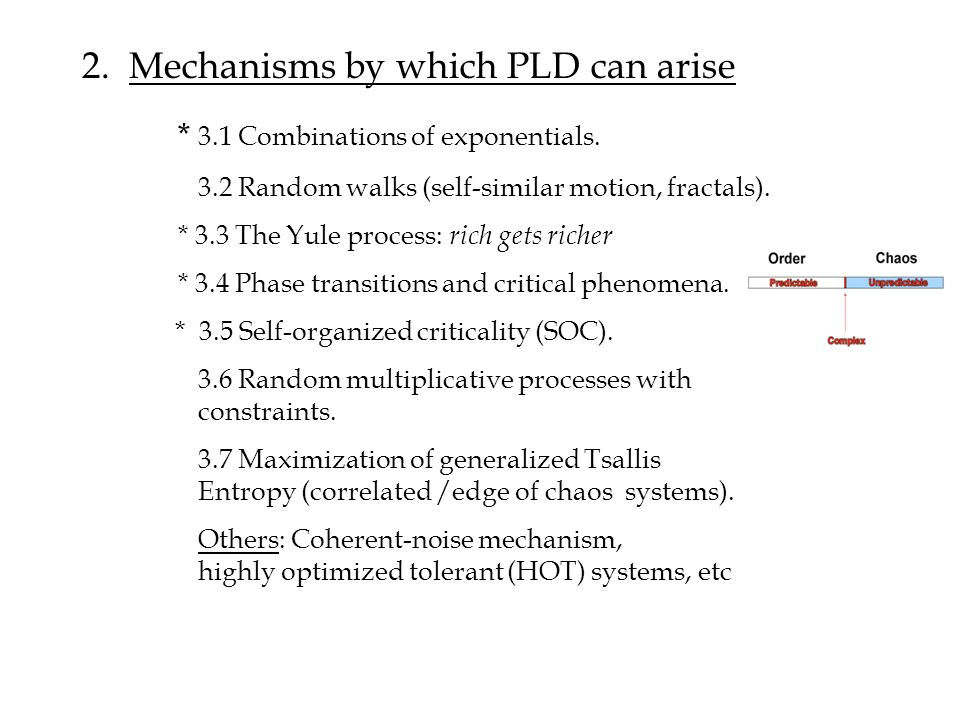 2. Mechanisms by which PLD can arise