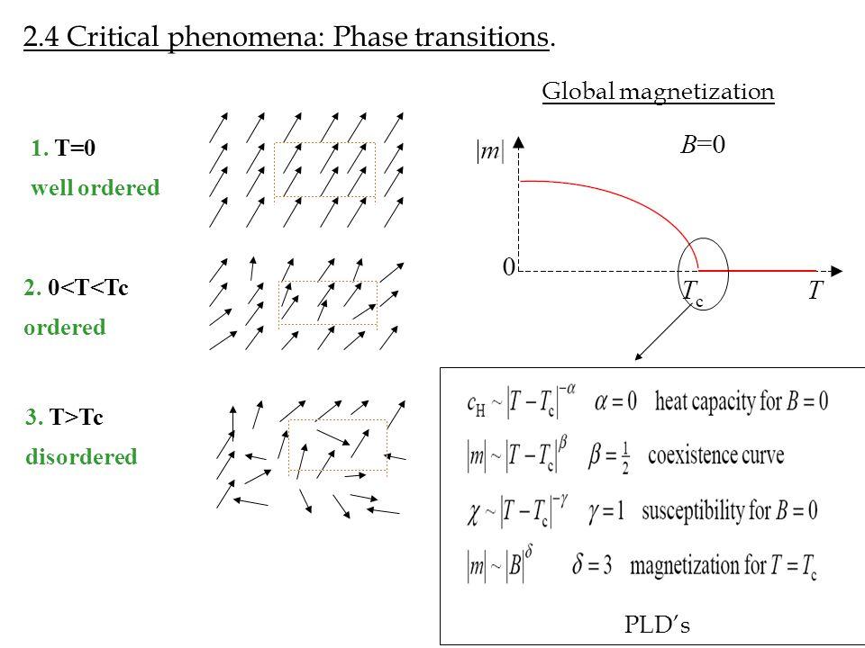 2.4 Critical phenomena: Phase transitions.