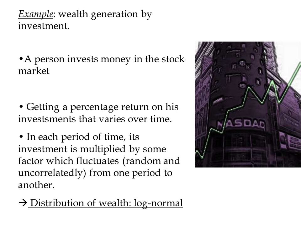 Example: wealth generation by investment.