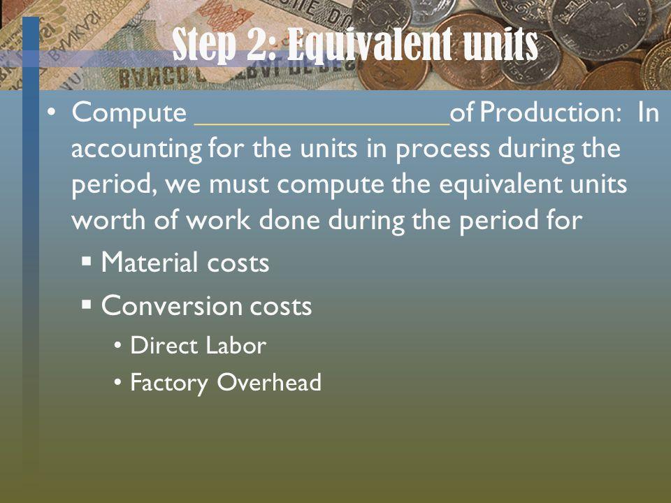 Step 2: Equivalent units