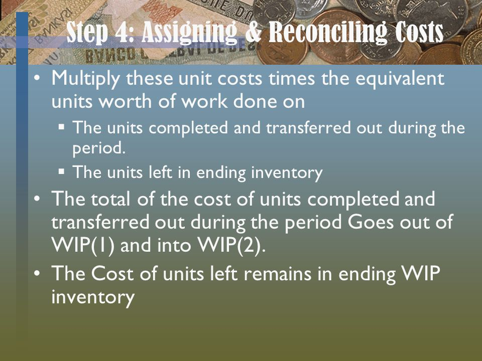 Step 4: Assigning & Reconciling Costs
