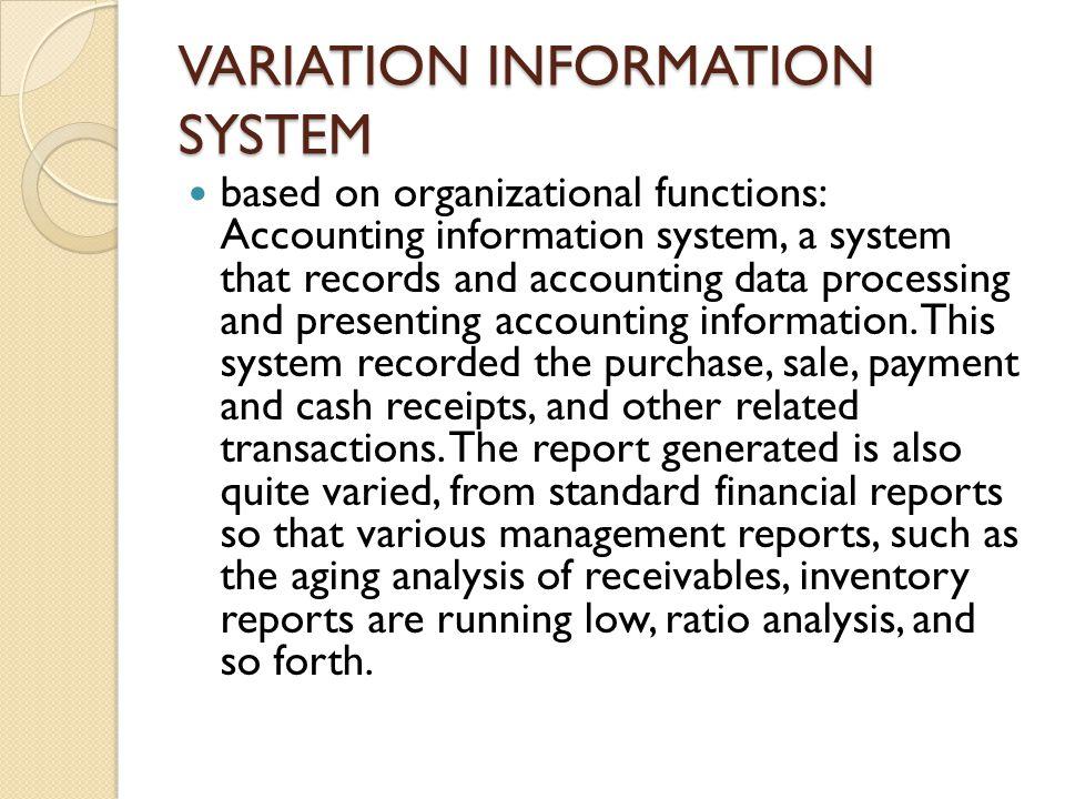 VARIATION INFORMATION SYSTEM