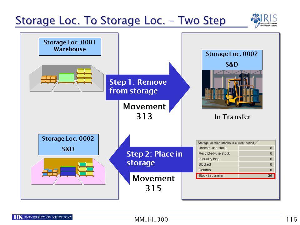 Storage Loc. To Storage Loc. – Two Step