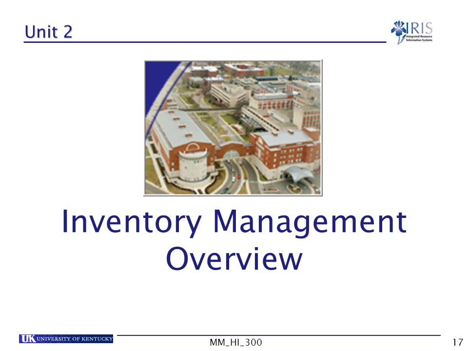 Inventory Management Overview