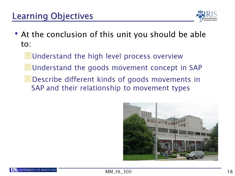 Learning Objectives At the conclusion of this unit you should be able to: Understand the high level process overview.
