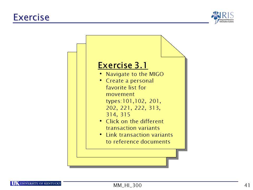 Exercise Exercise 3.1 Navigate to the MIGO