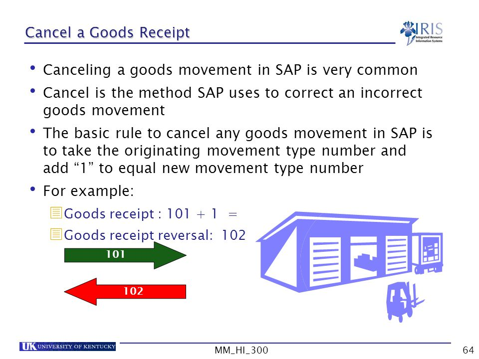 Canceling a goods movement in SAP is very common