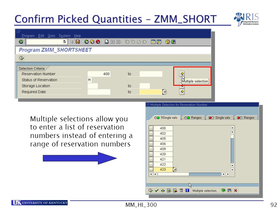 Confirm Picked Quantities – ZMM_SHORT