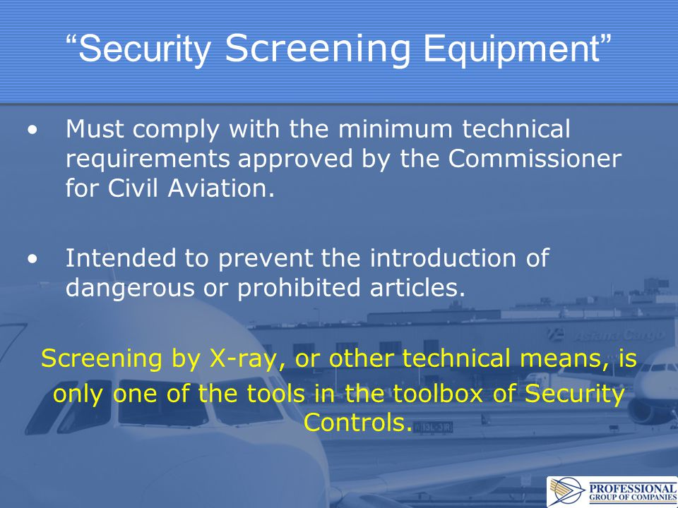 Security Screening Equipment